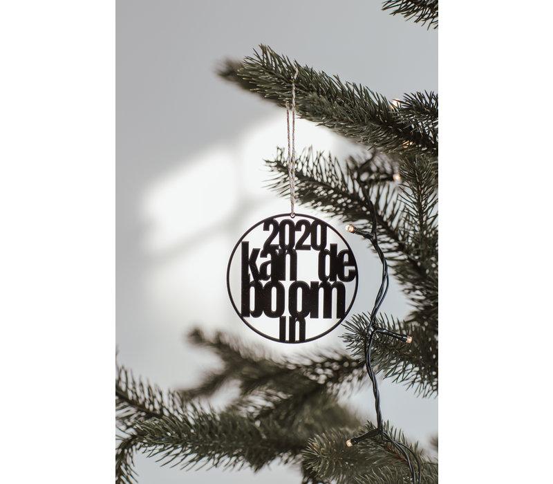 """Christmas bauble """"2020 kan de boom in"""" - set of 2"""