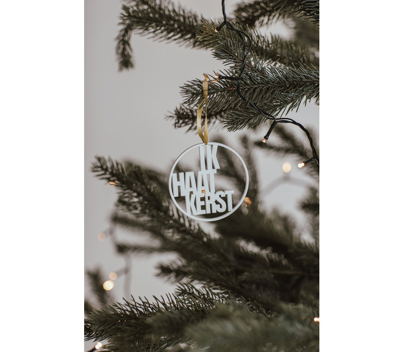 """Weihnachtskugel """"ik haat kerst"""" - Satz von 4"""