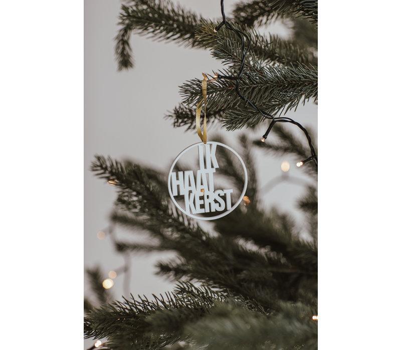 """Christmas bauble """"Ik haat kerst"""" - set of 2"""