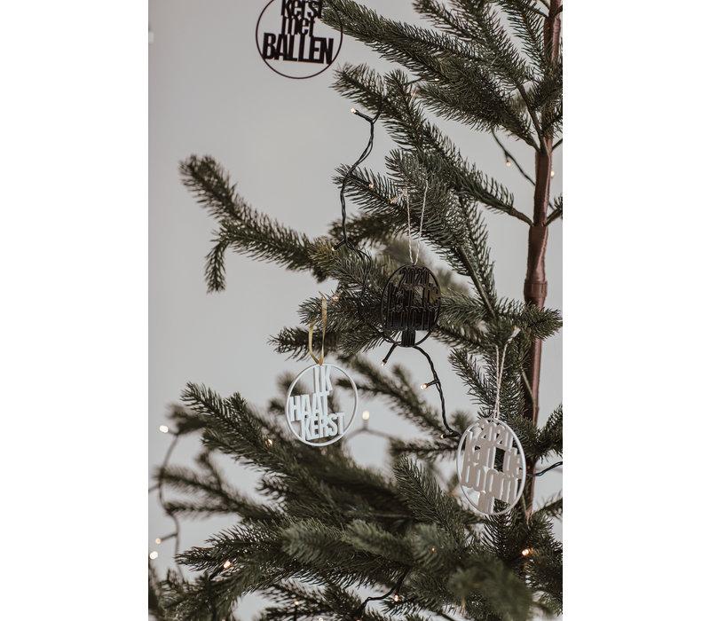Kerstbal Kolibrie - set van 4