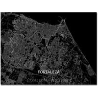 Stadtkarte Fortaleza | Aluminium Wanddekoration