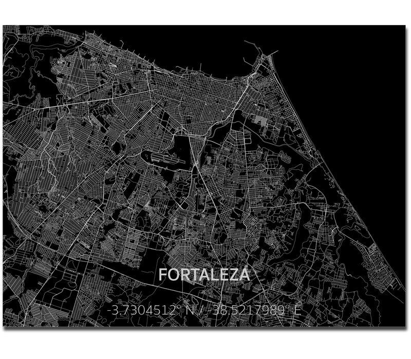 Citymap Fortaleza | Aluminum wall decoration