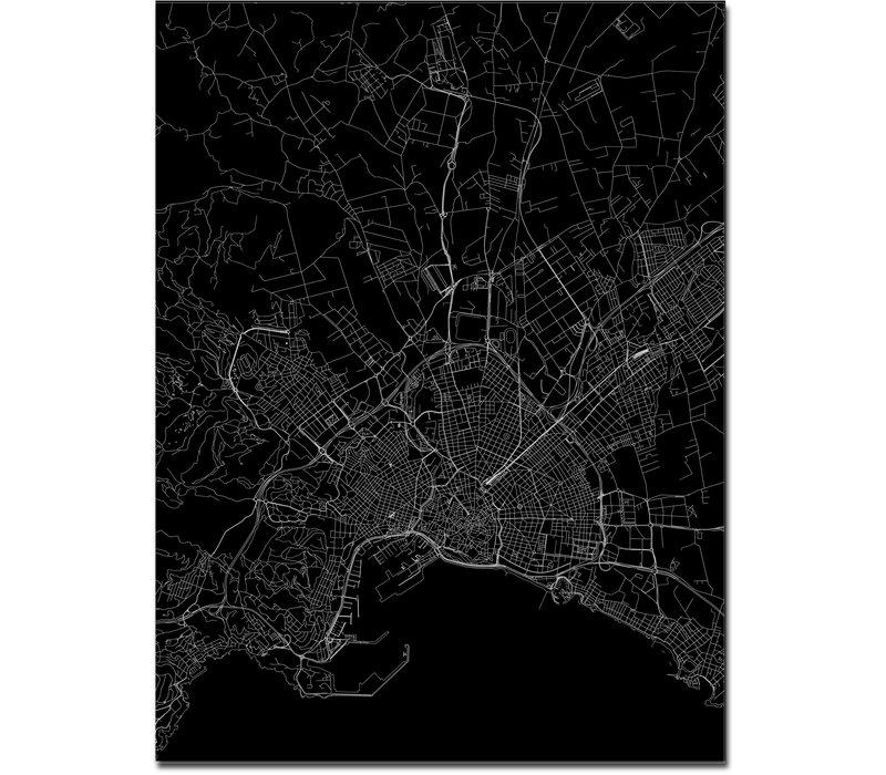 Stadtkarte Palma   Aluminium Wanddekoration