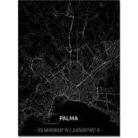 Citymap Palma   Aluminium wanddecoratie