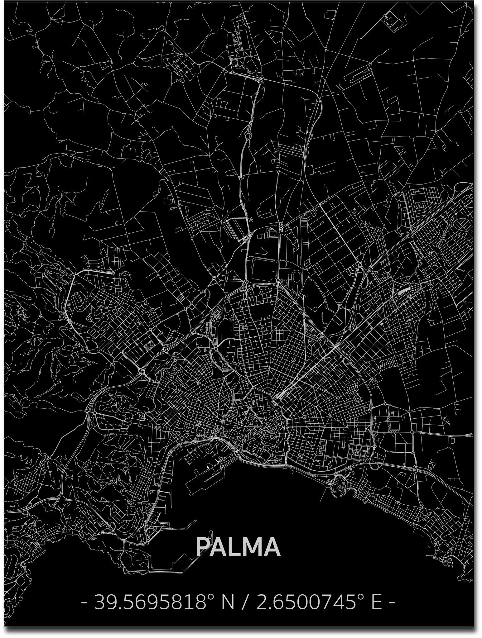 Citymap Palma | Aluminum wall decoration-1