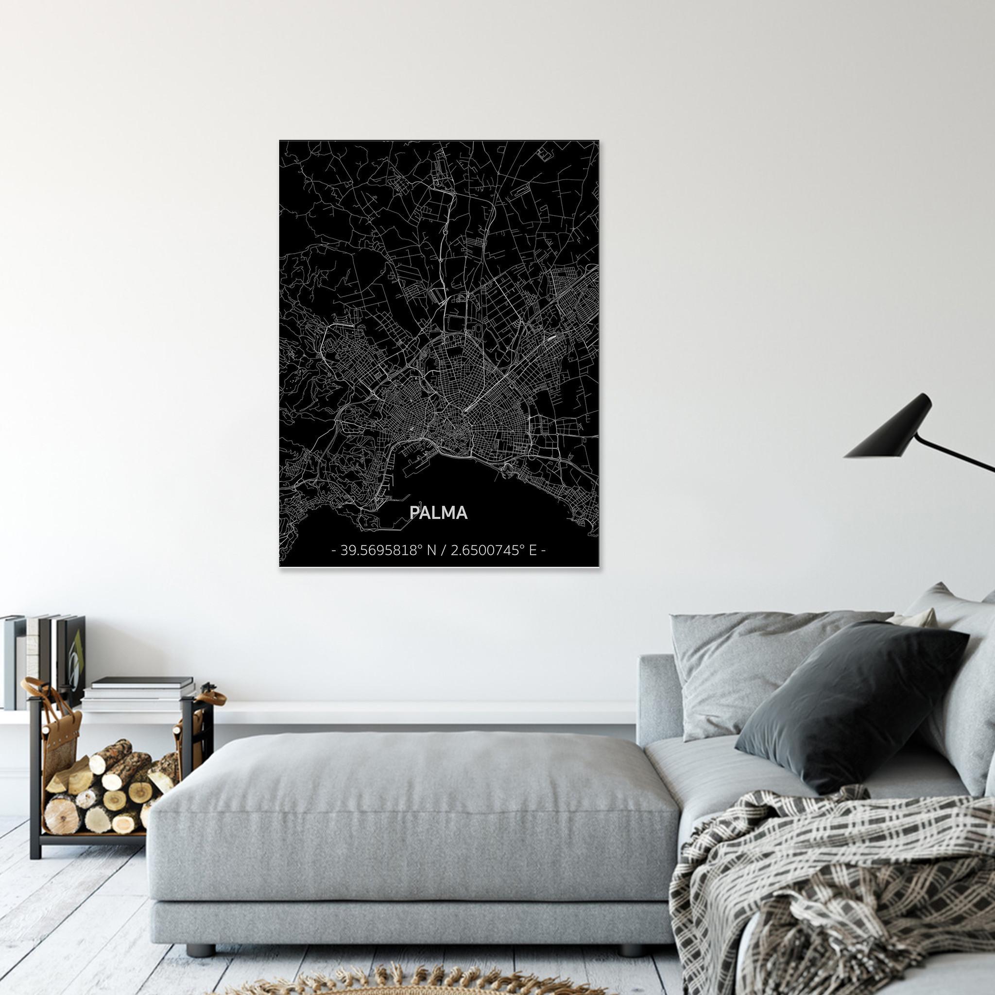 Citymap Palma | Aluminum wall decoration-2