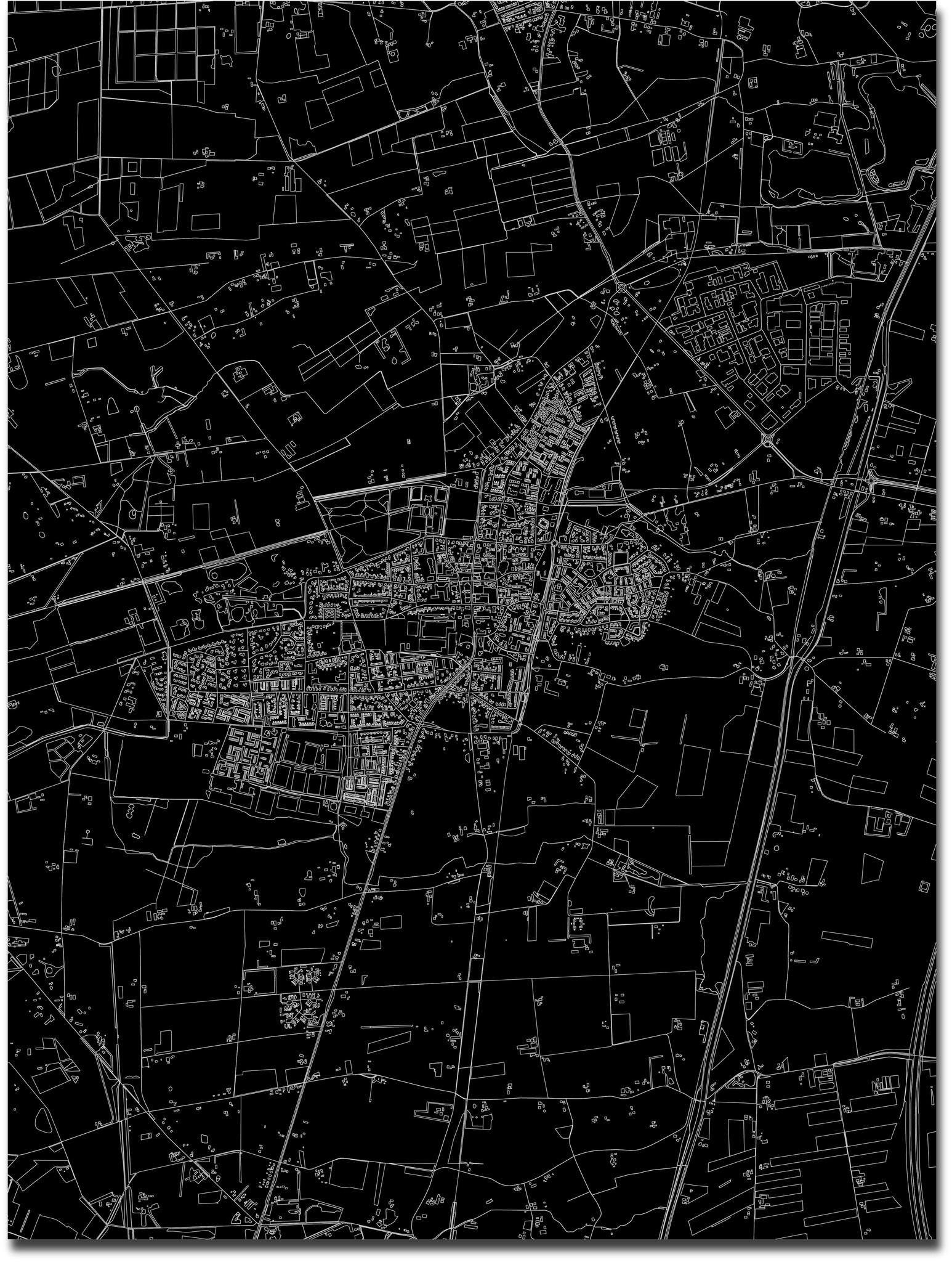 Stadtkarte Vaassen | Aluminium Wanddekoration-3