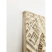 Stadtplan Merate   Wanddekoration Holz