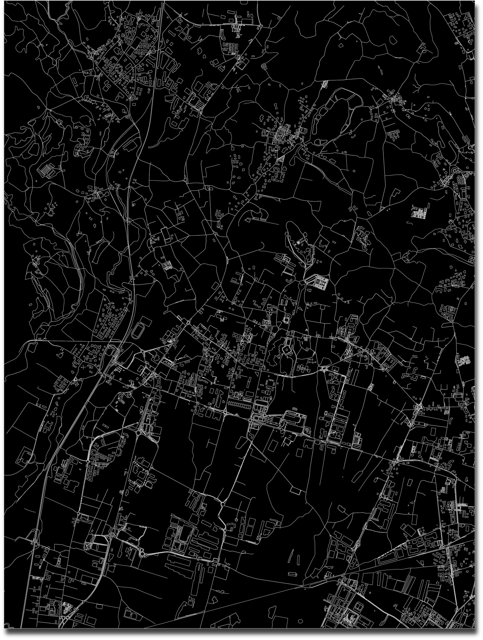 Citymap Merate | Aluminum wall decoration-3