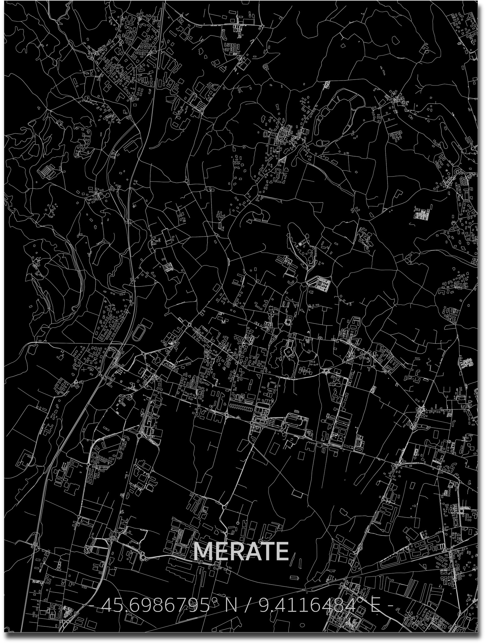 Citymap Merate | Aluminum wall decoration-1