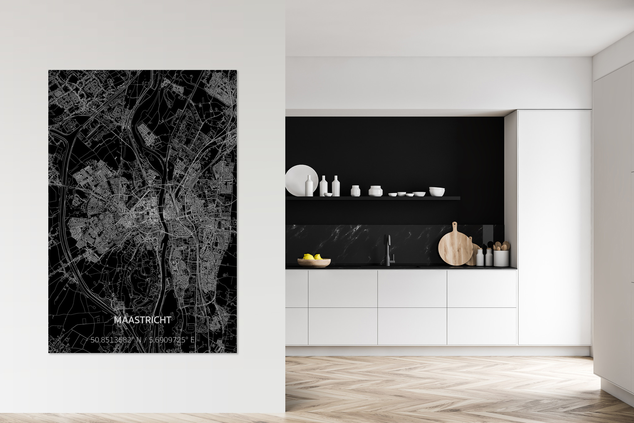 Citymap Maastricht XL | Aluminum wall decoration-2