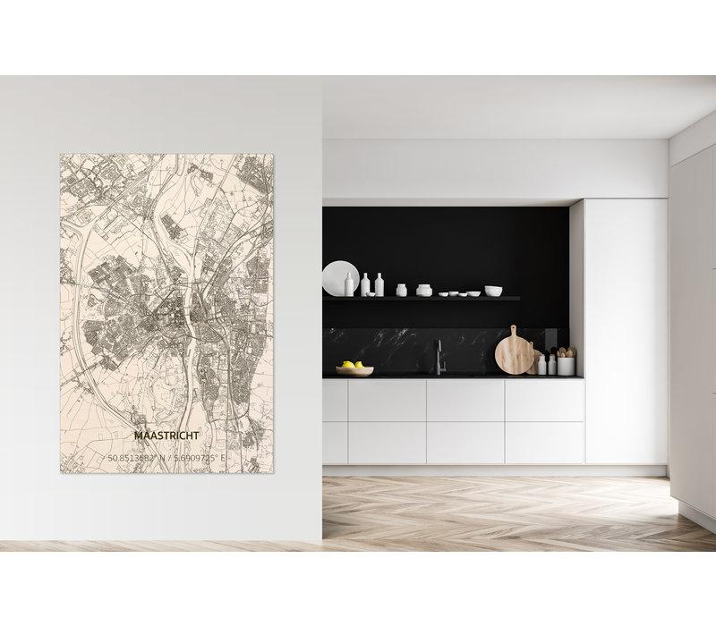 Wanddekoration aus Holz Wandbild Maastricht XL