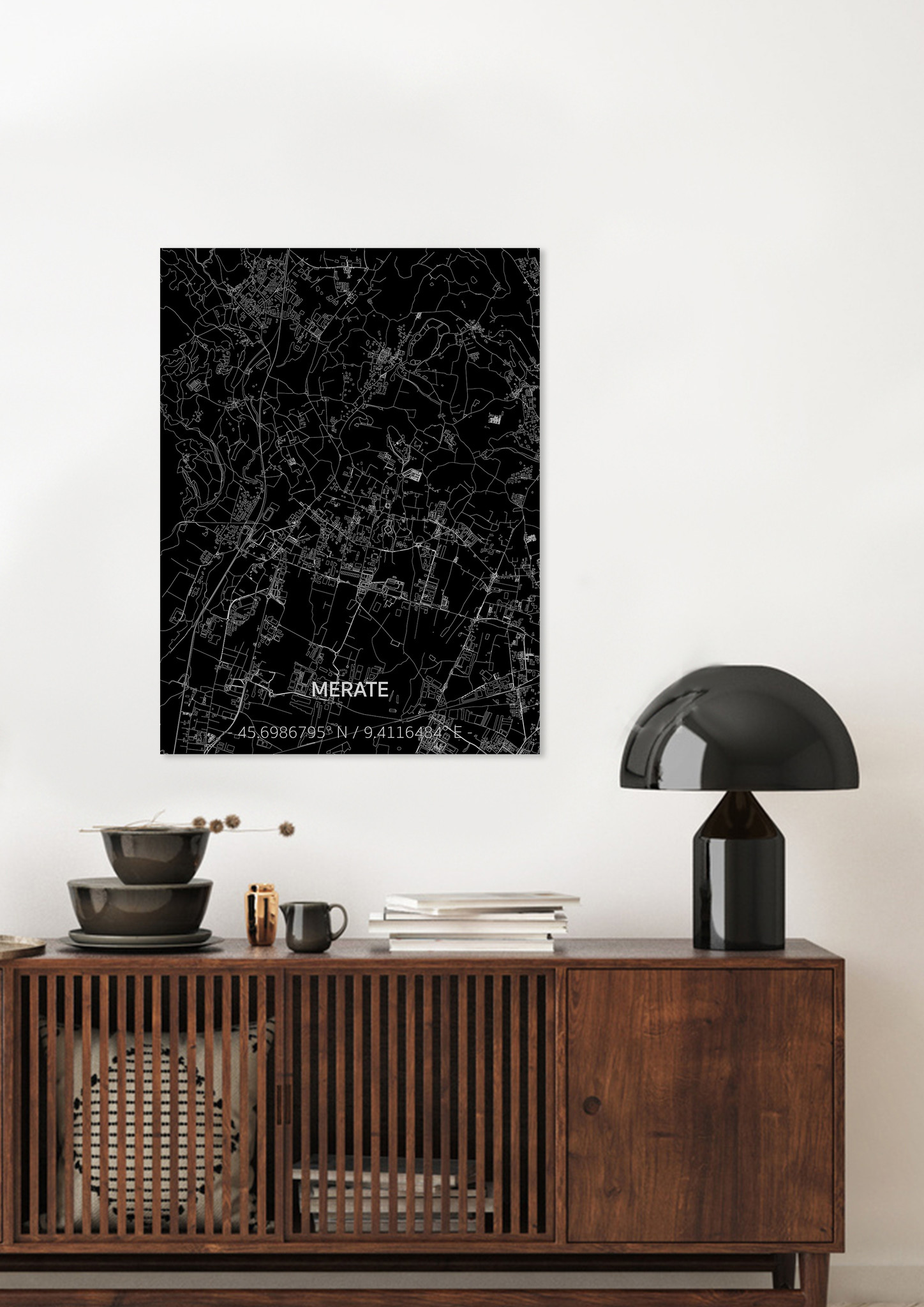 Citymap Merate | Aluminum wall decoration-2
