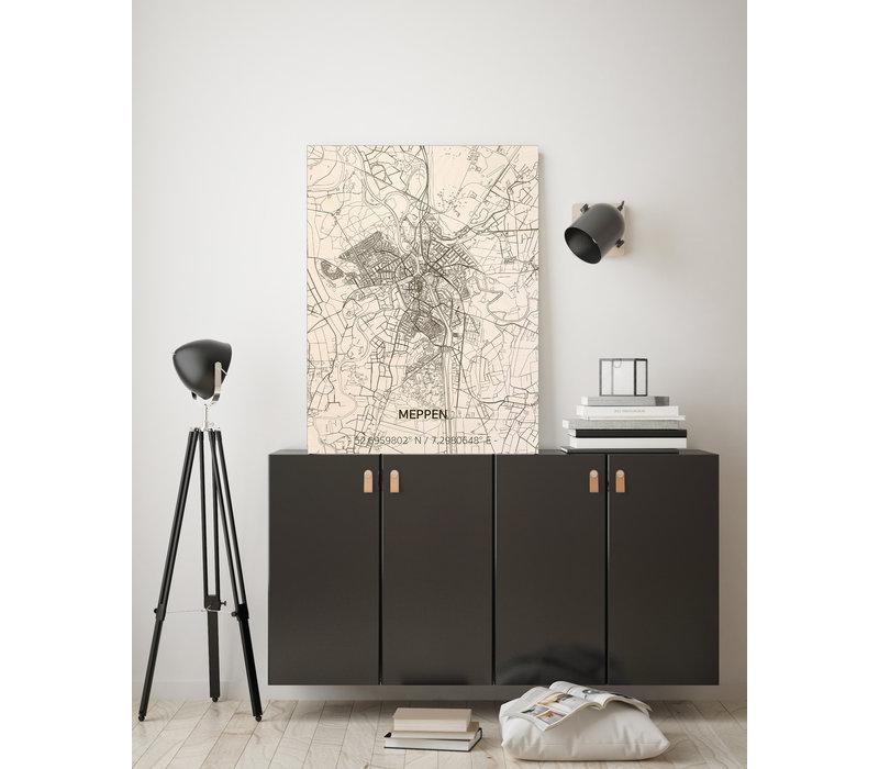Stadtplan Meppen | Wanddekoration Holz
