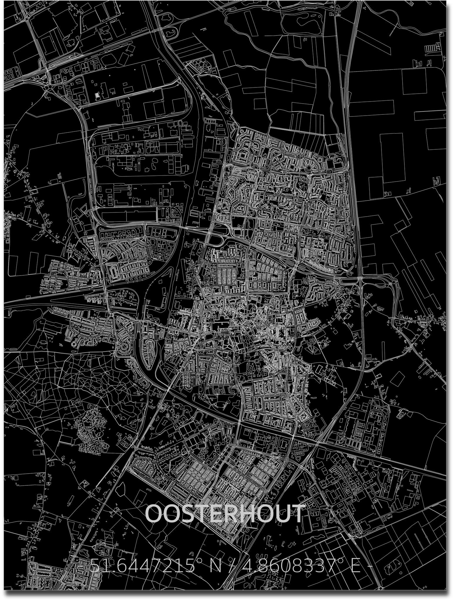 Citymap Oosterhout | Aluminum wall decoration-1
