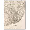 Citymap Lissabon | houten wanddecoratie
