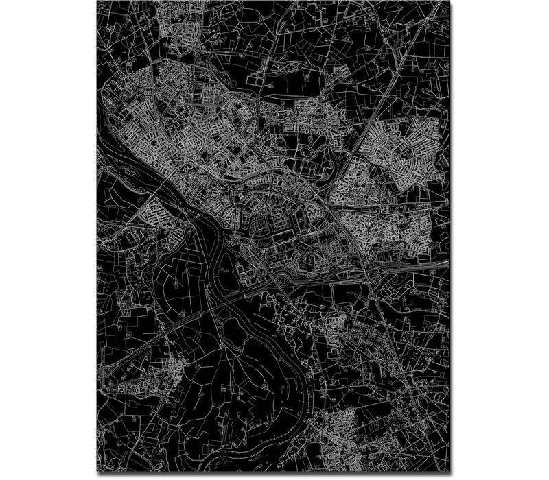 Citymap Deventer   Aluminium wanddecoratie