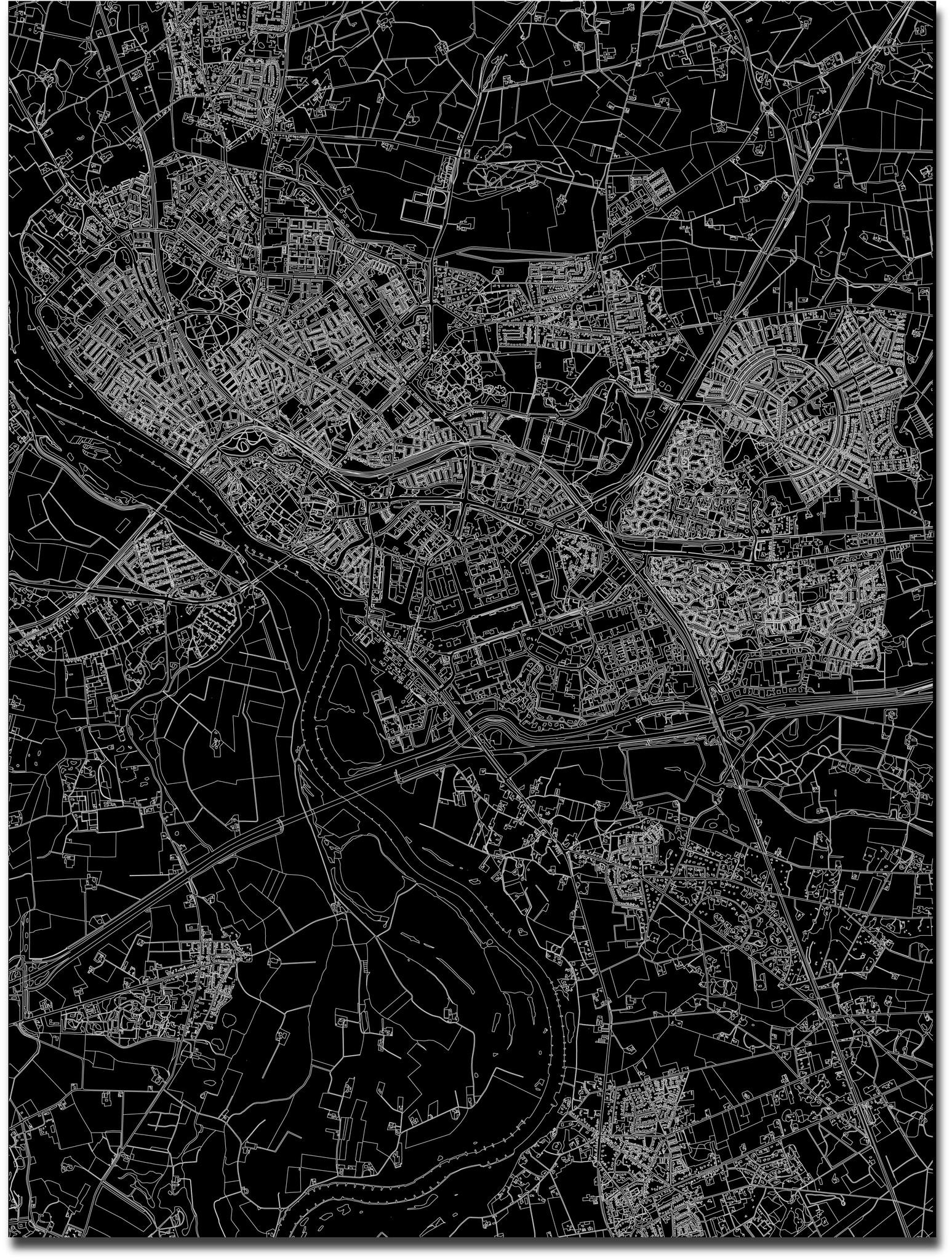 Citymap Deventer | Aluminum wall decoration-3