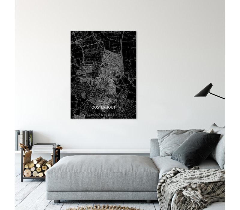 Stadtkarte Oosterhout | Aluminium Wanddekoration