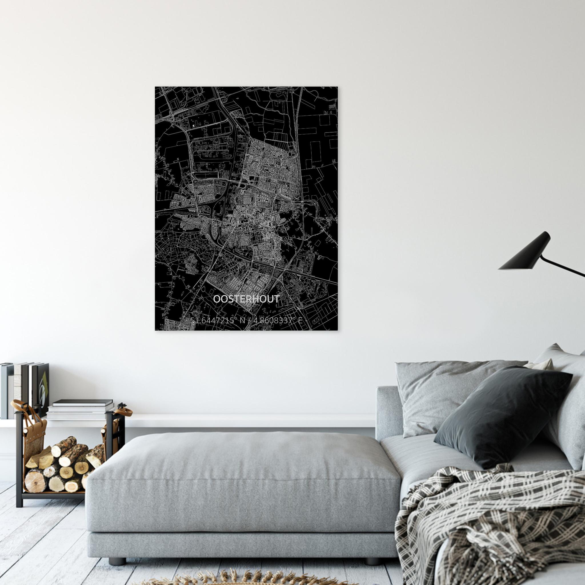 Citymap Oosterhout | Aluminum wall decoration-2