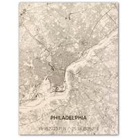 Citymap Philadelphia | wooden wall decoration