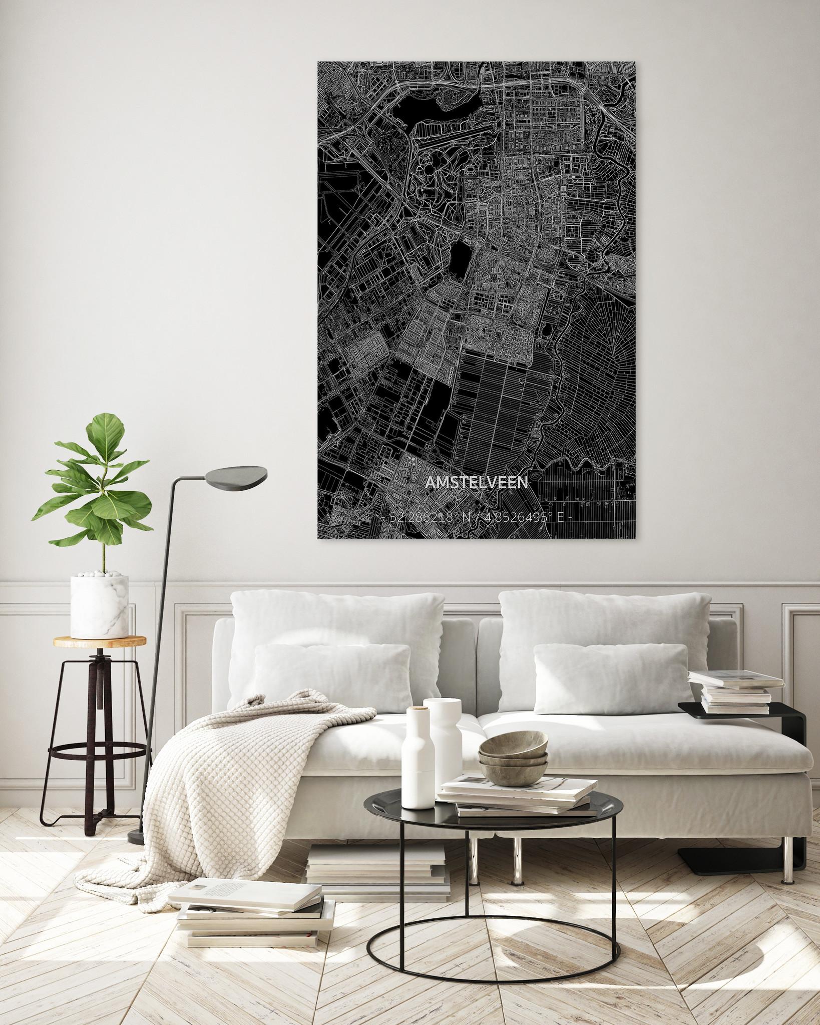 Citymap Amstelveen XL | Aluminum wall decoration-2