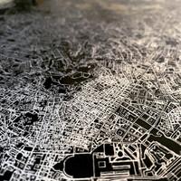 Stadtkarte Bali   Aluminium Wanddekoration
