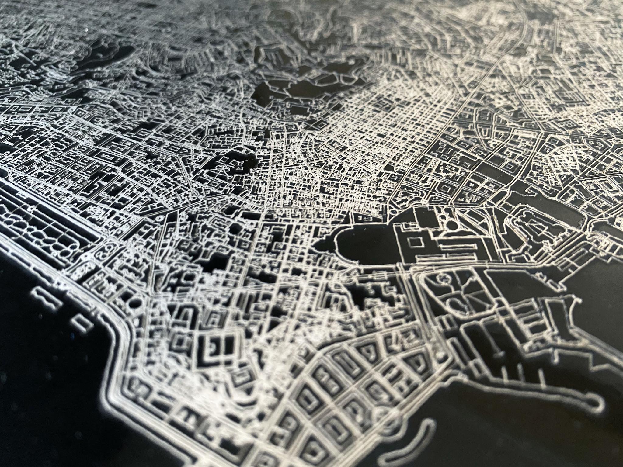 Citymap Johannesburg | Aluminium wanddecoratie-5