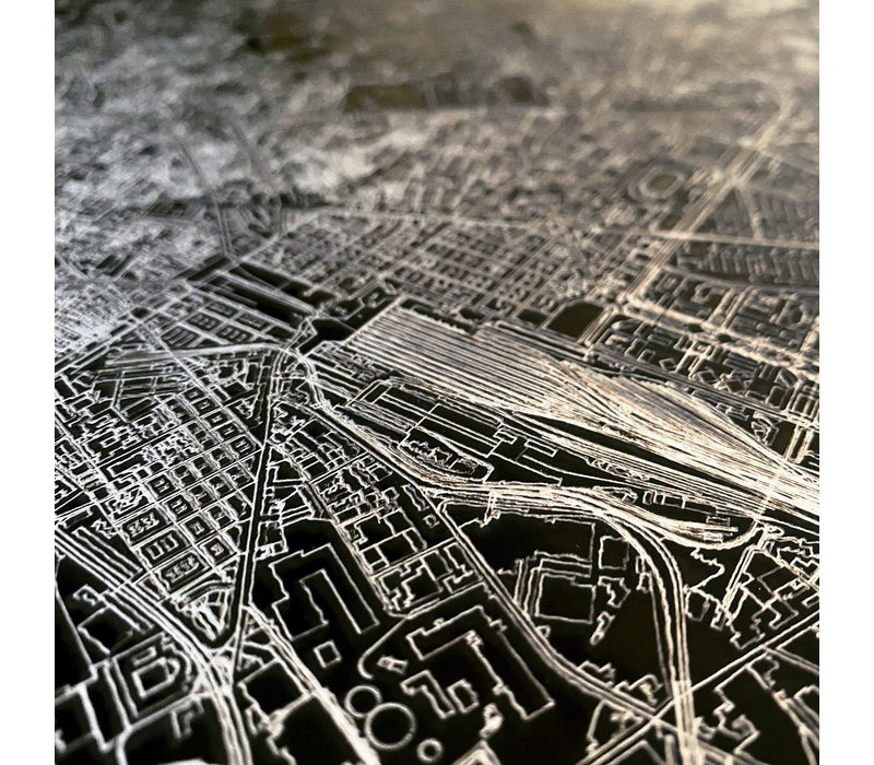 Citymap Amersfoort | Aluminum wall decoration