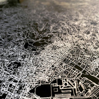 Citymap Der Haag | Aluminium Wanddekoration