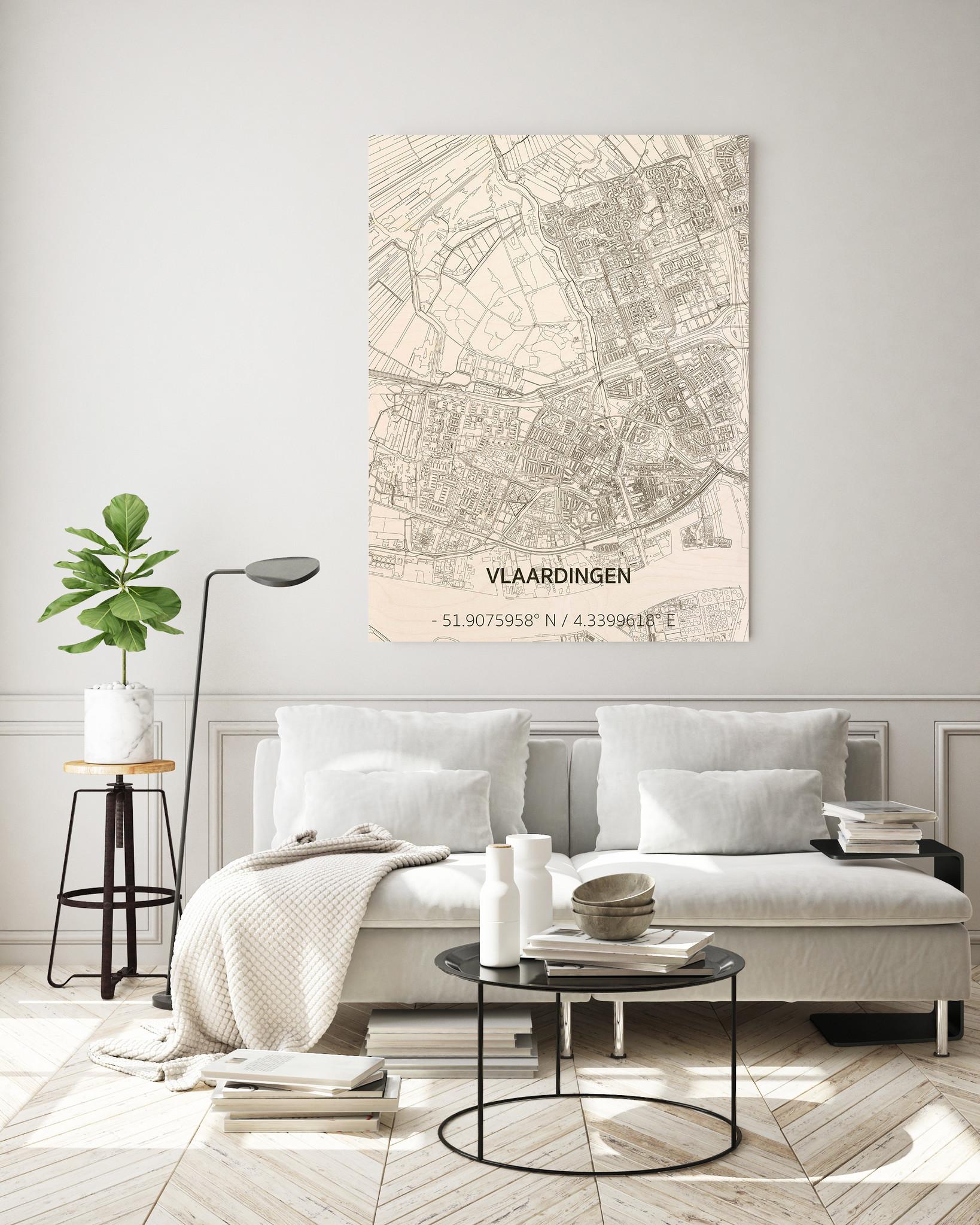 Citymap Vlaardingen | houten wanddecoratie-2