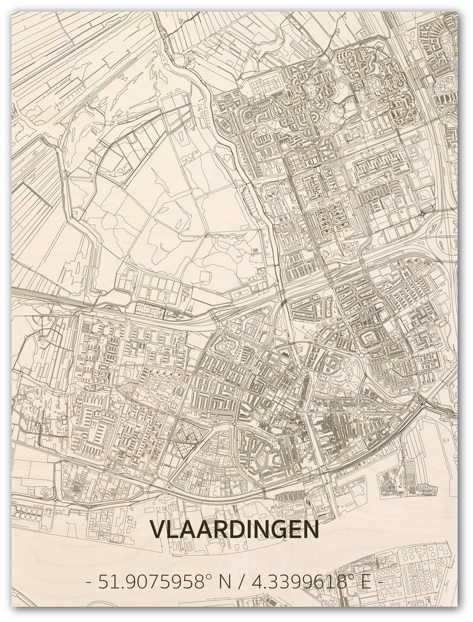 Citymap Vlaardingen | houten wanddecoratie-1