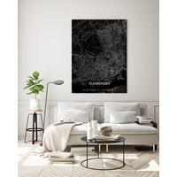 Stadtkarte Vlaardingen | Aluminium Wanddekoration