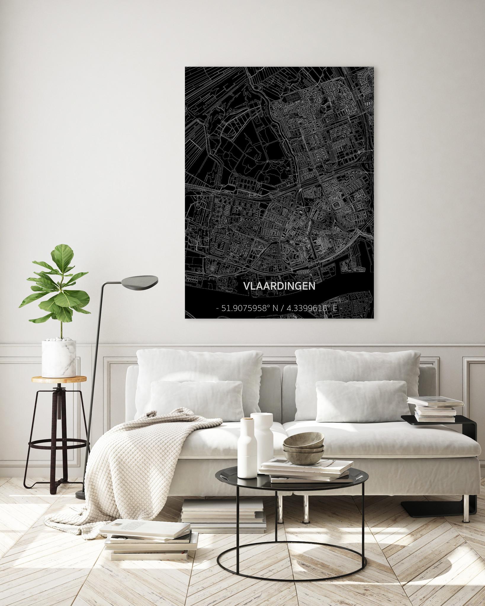Citymap Vlaardingen | Aluminum wall decoration-2