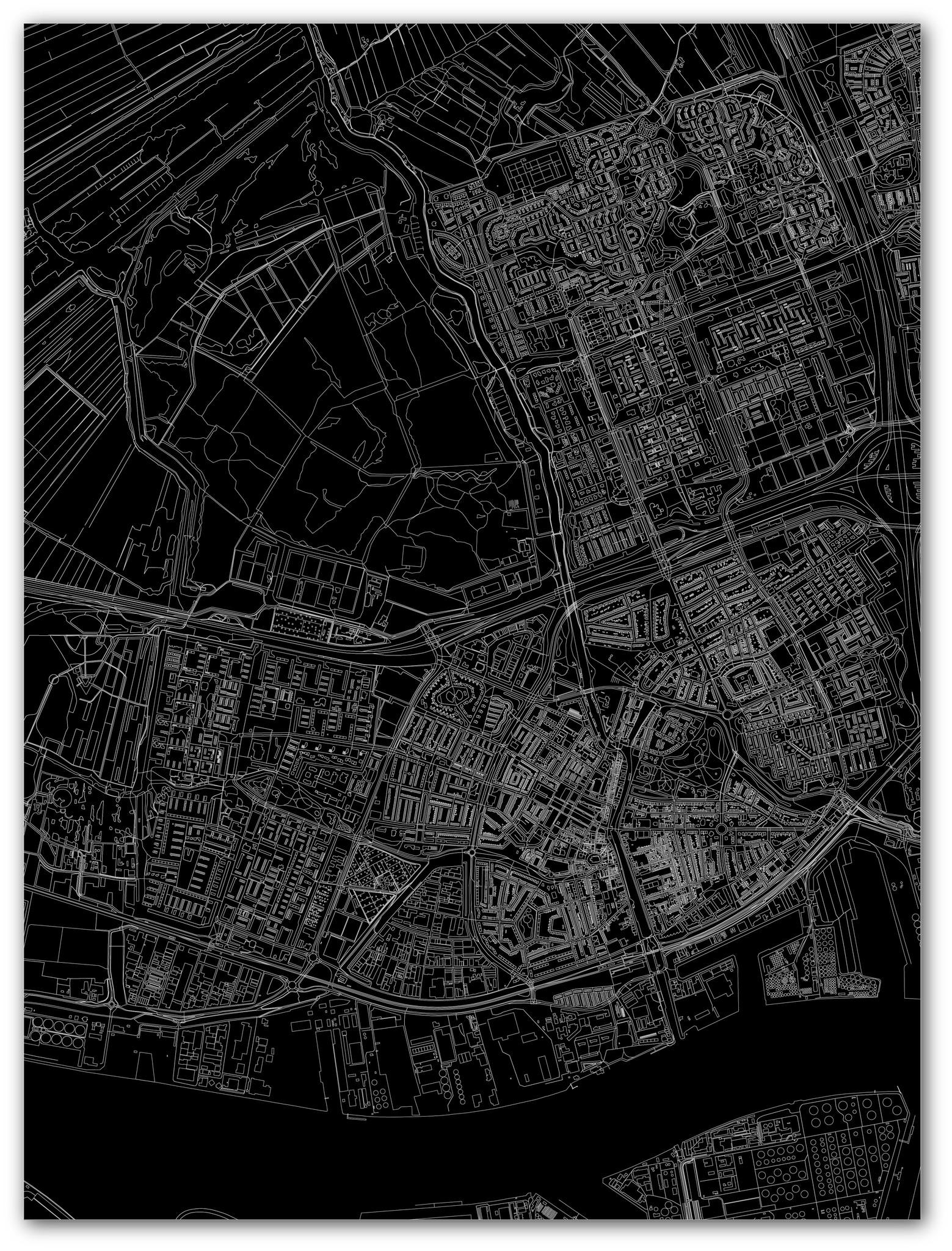 Citymap Vlaardingen | Aluminum wall decoration-3
