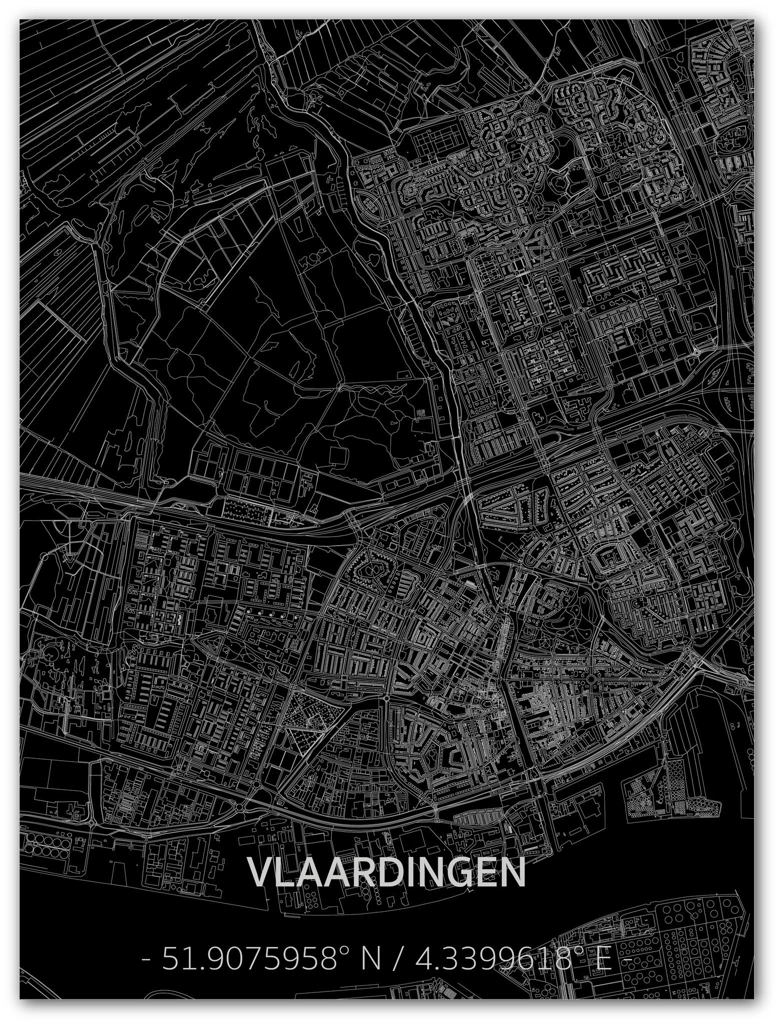 Citymap Vlaardingen | Aluminum wall decoration-1