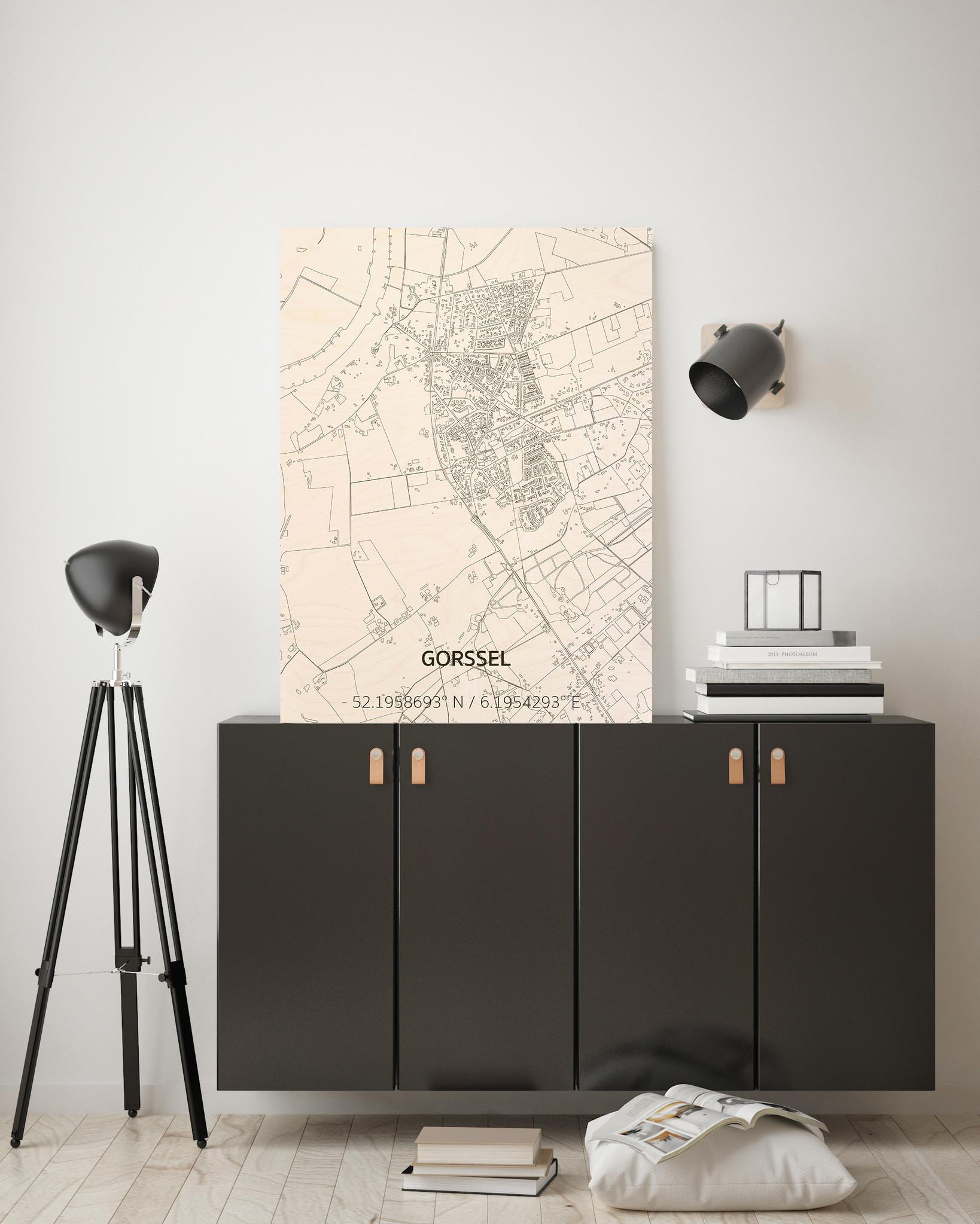 Citymap Gorssel | houten wanddecoratie-2