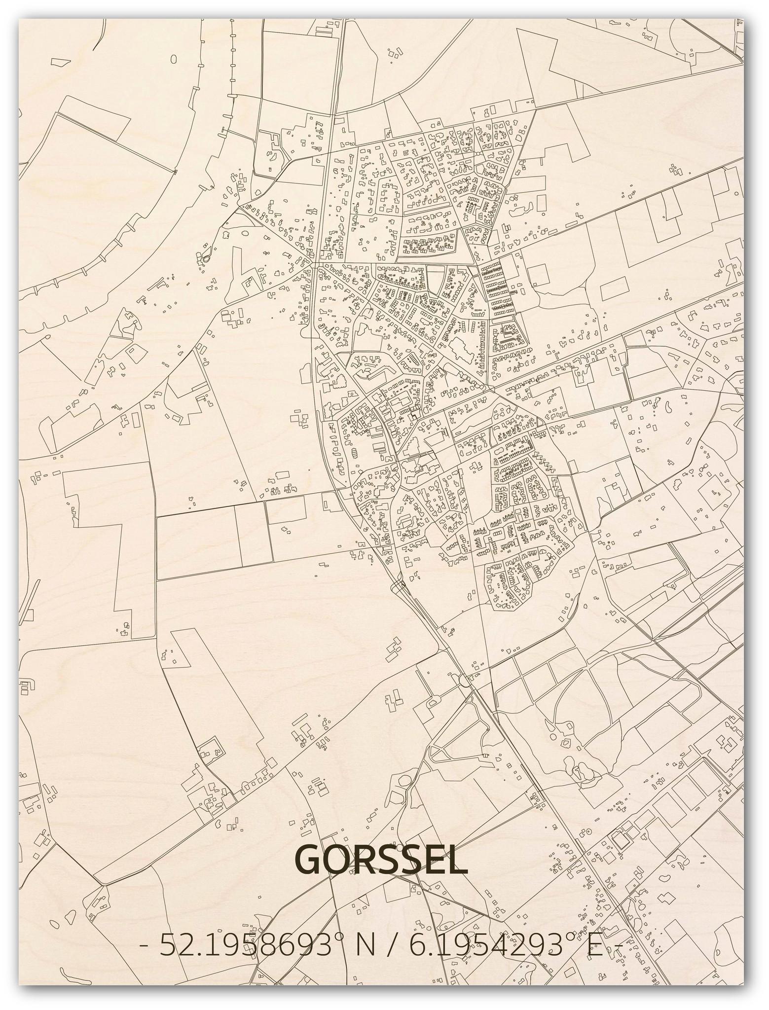 Citymap Gorssel | houten wanddecoratie-1