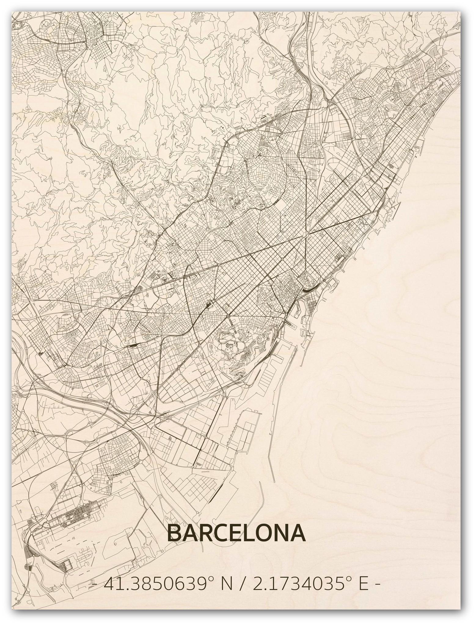 WOODEN WALL DECORATION BARCELONA CITYMAP-1