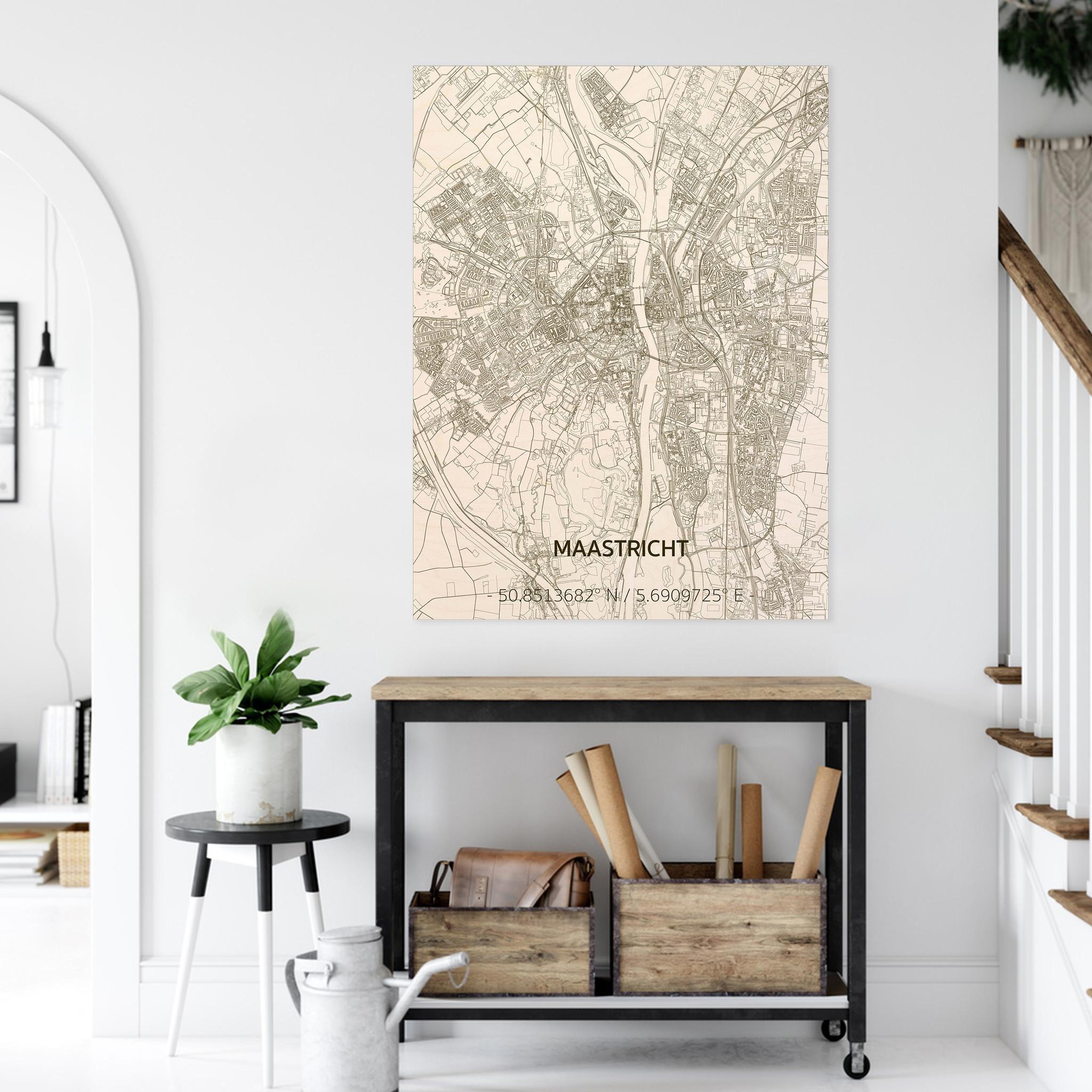 Stadtplan Maastricht | Wanddekoration Holz-2