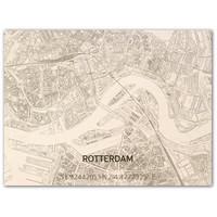 Citymap Rotterdam | houten wanddecoratie