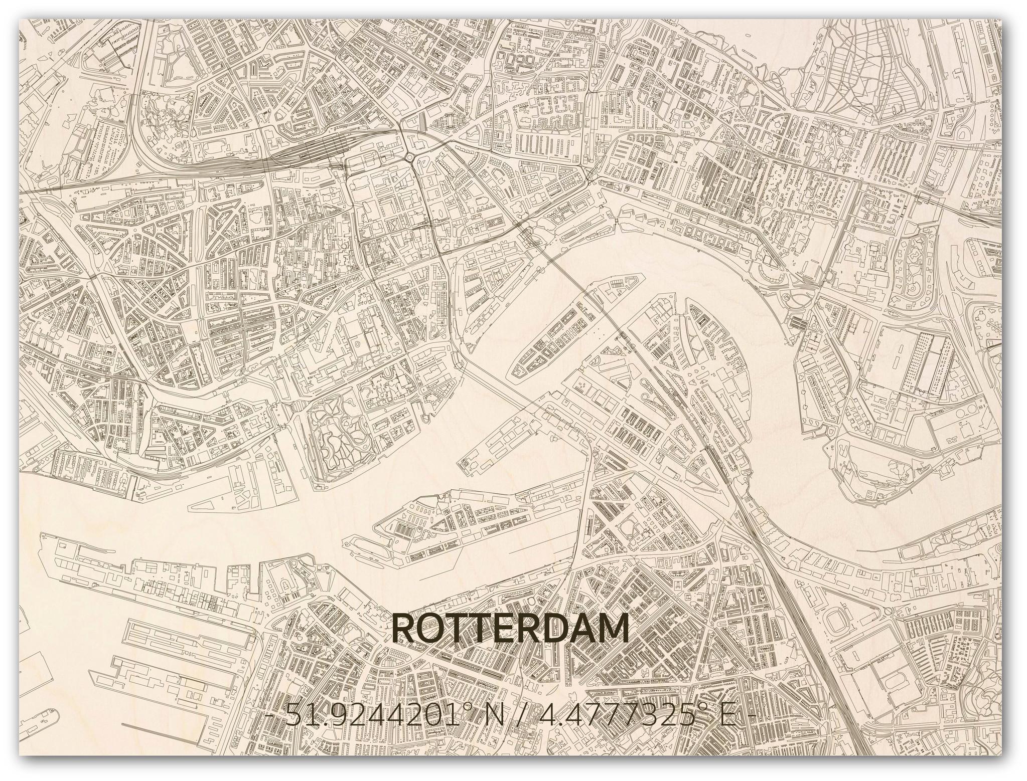Citymap Rotterdam | Wooden wall decoration-3