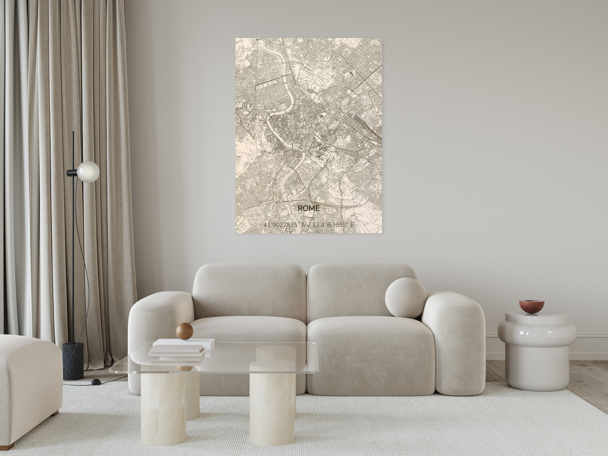 WOODEN WALL DECORATION ROME CITYMAP-2