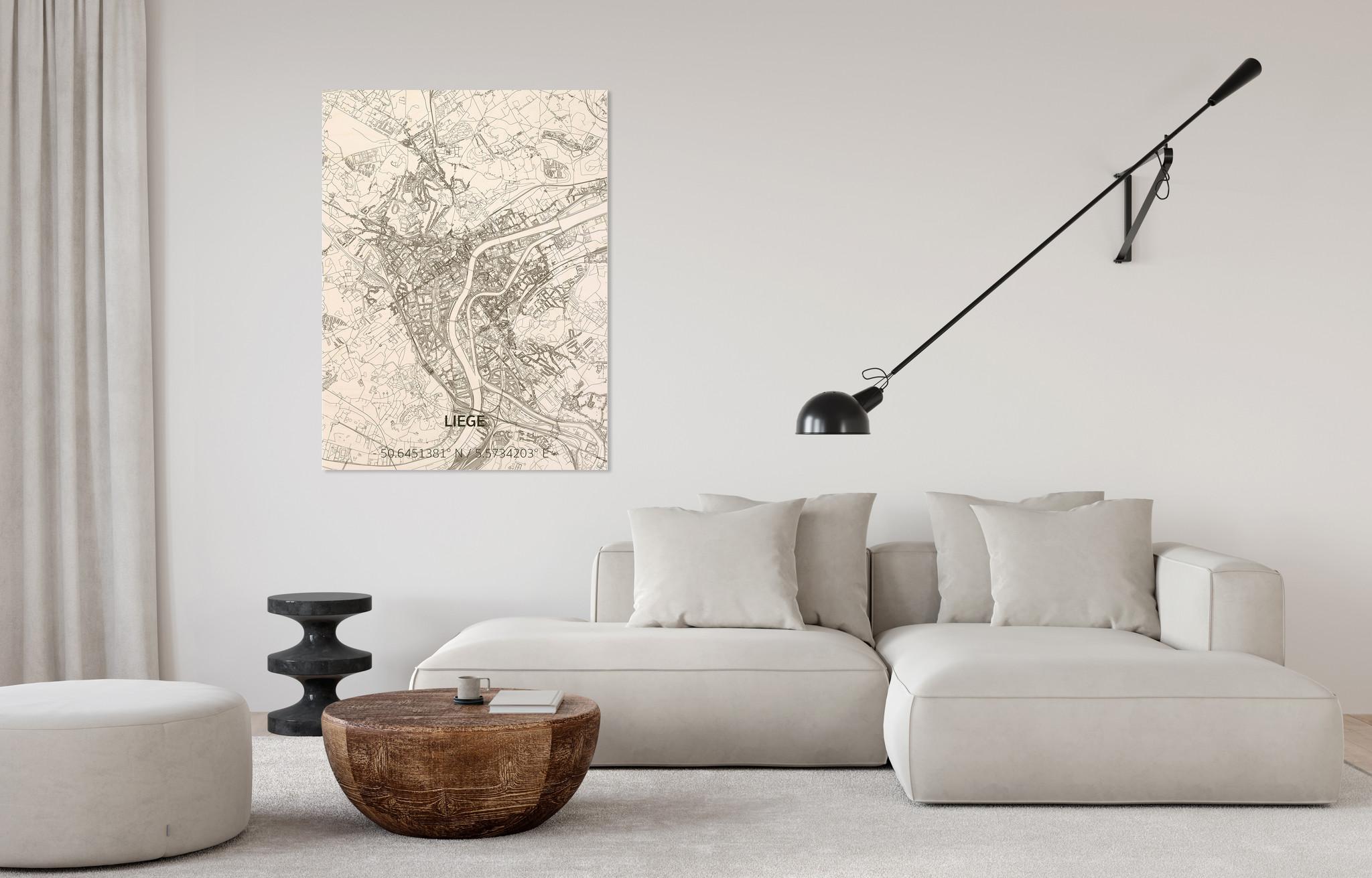 Citymap Liege | wooden wall decoration-2