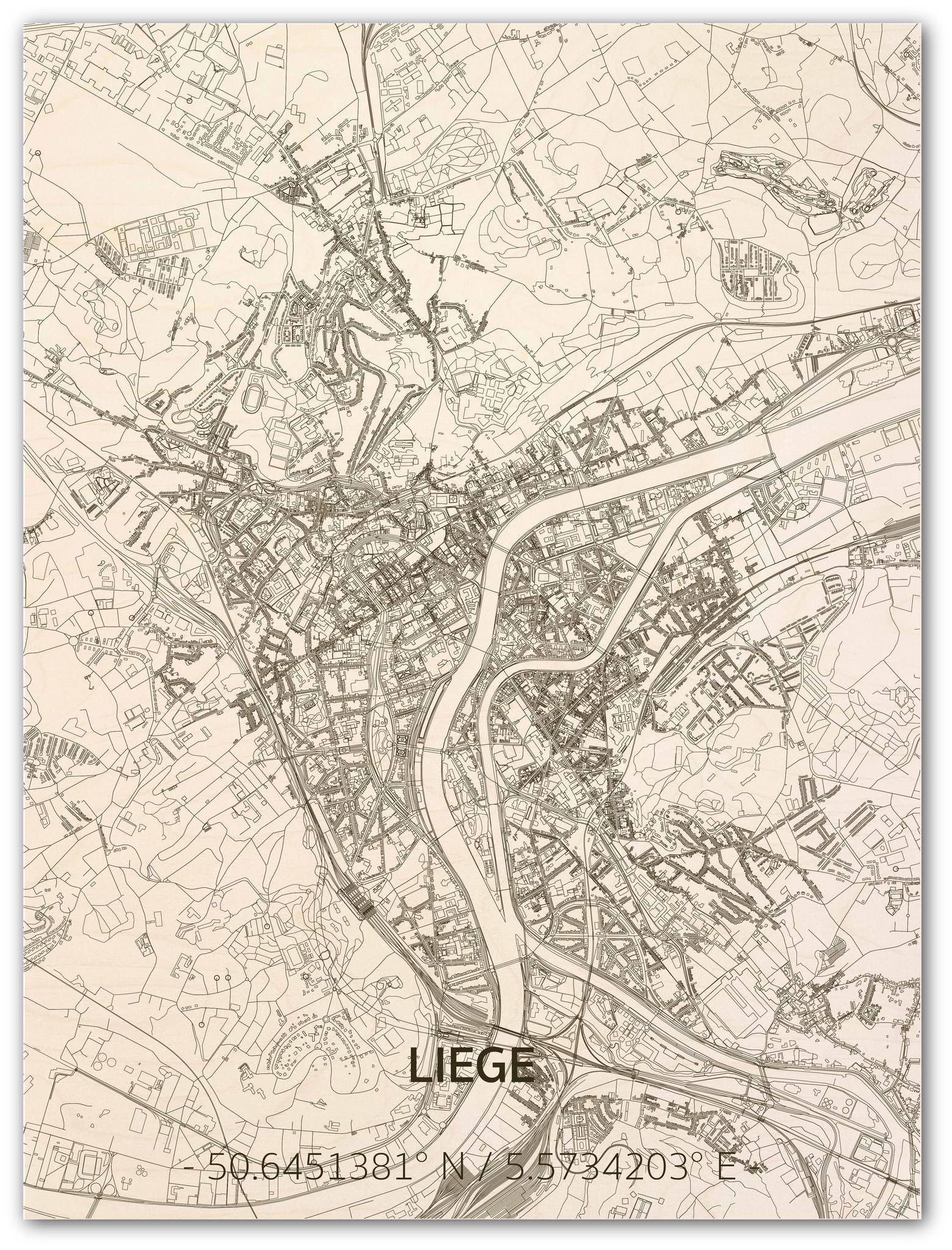 Citymap Liege | wooden wall decoration-1
