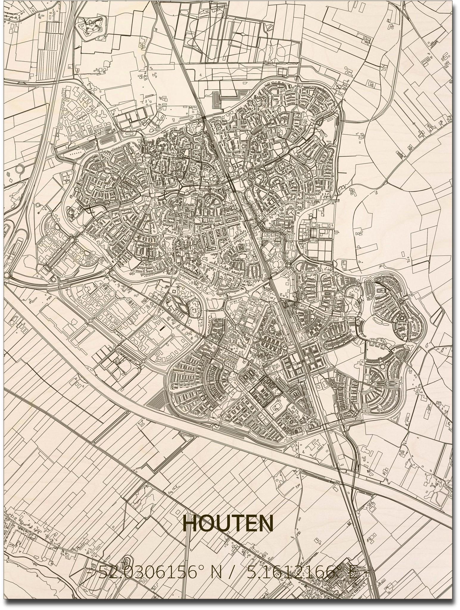 Citymap Houten | houten wanddecoratie-1