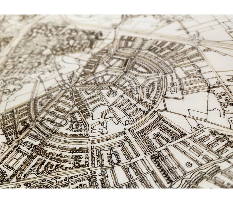 Citymap Almere | houten wanddecoratie-3