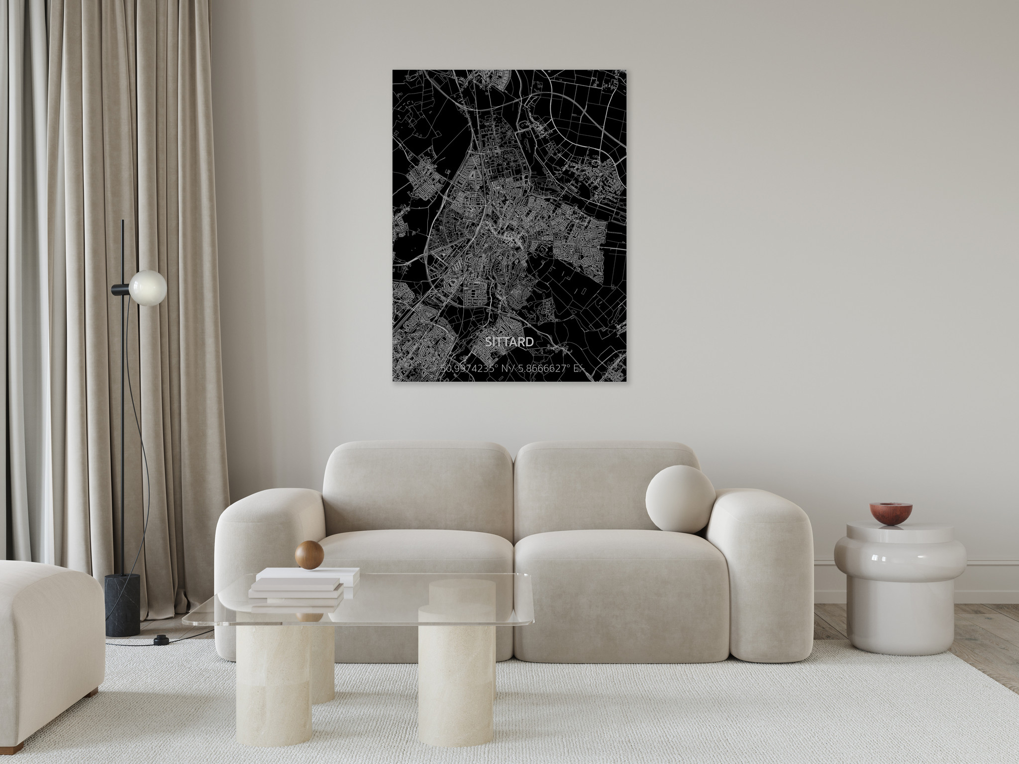 Stadtkarte Sittard | Aluminium Wanddekoration-2