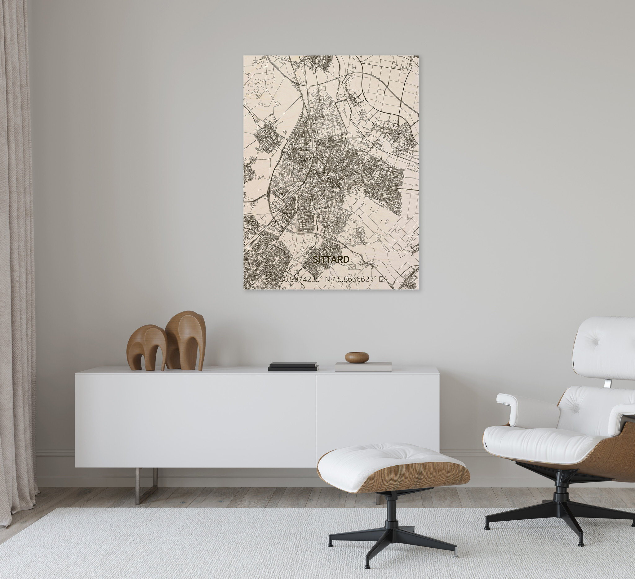 Citymap Sittard | wooden wall decoration-2