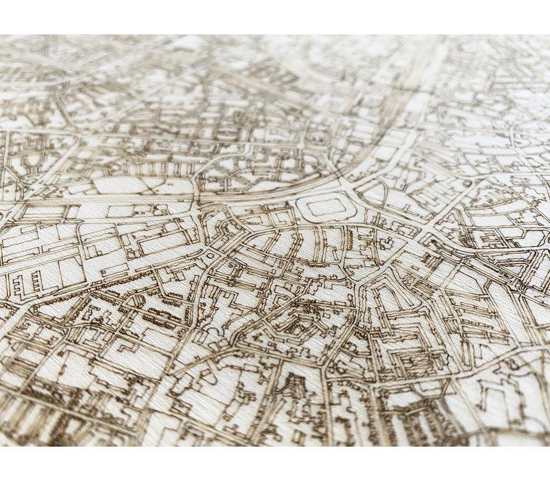 Stadtplan Genf | Wanddekoration Holz-4